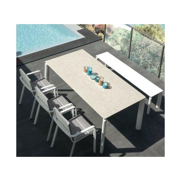 Milo Alu Tisch ausziehbar 160-215x95 cm