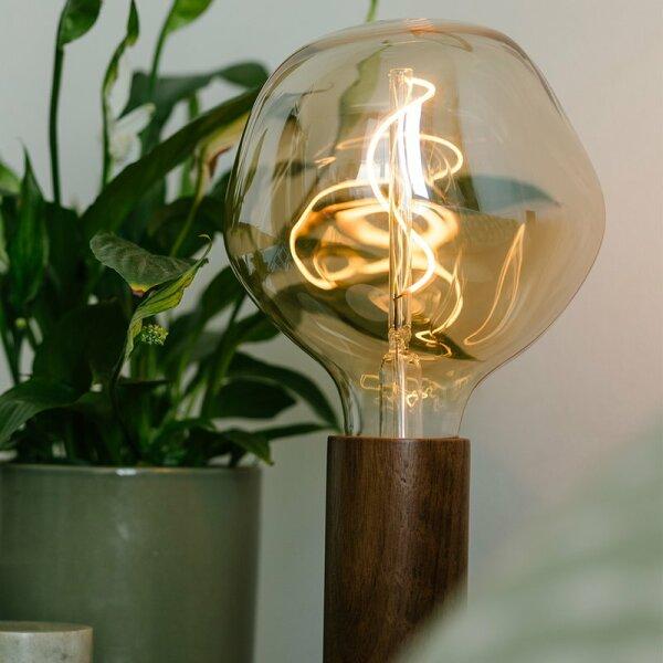 Porta di lampada in noce