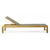 Sunbed Sand teak with ethitex