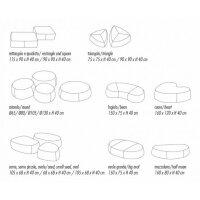 Pouf Stones oval