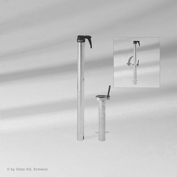 Glatz presa di terra PX, tubo di transizione PX incluso Ø48/55mm, Acciaio inossidabile SunwingC+