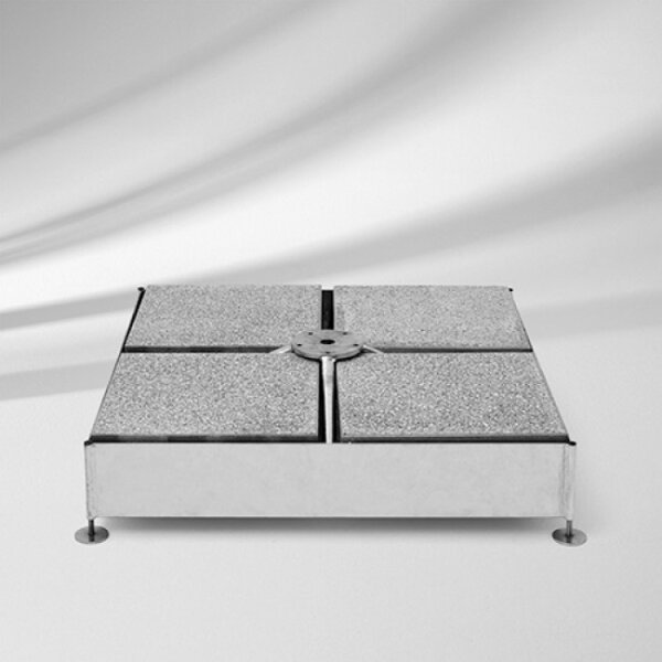 Glatz Sockel M4 120kg, 91x91x11,5-15,5cm Stahl verzinkt Sombrano S+-Fortello