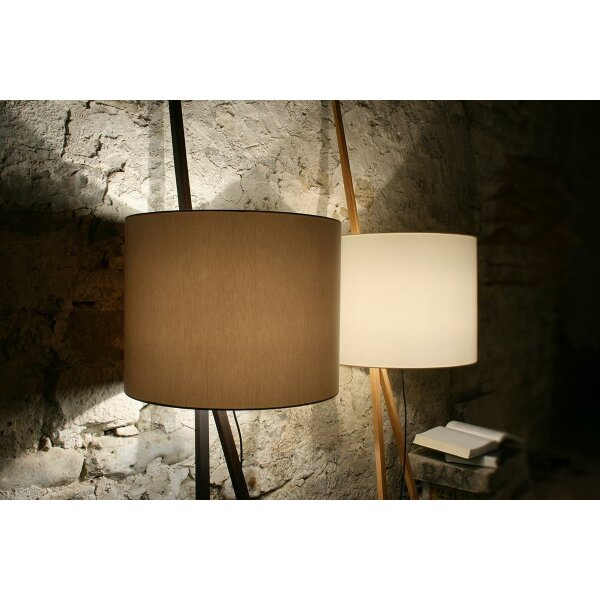 Floor lamp Luca Lean Oak smoked oiled