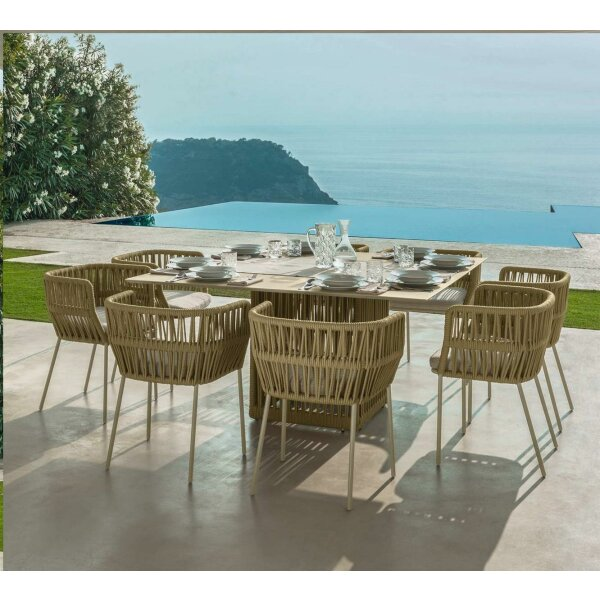 Cliff dining table 150x150 cm