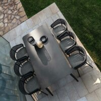 Armchair Moon Alu Dining Chair with armrests