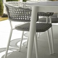 Armchairi Moon Alu Dining Chair without Armrests