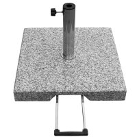 Granitsockel 40kg grau viereckig mit Rollen und...