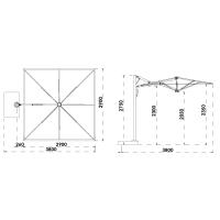Sonnenschirm Astro Carbon
