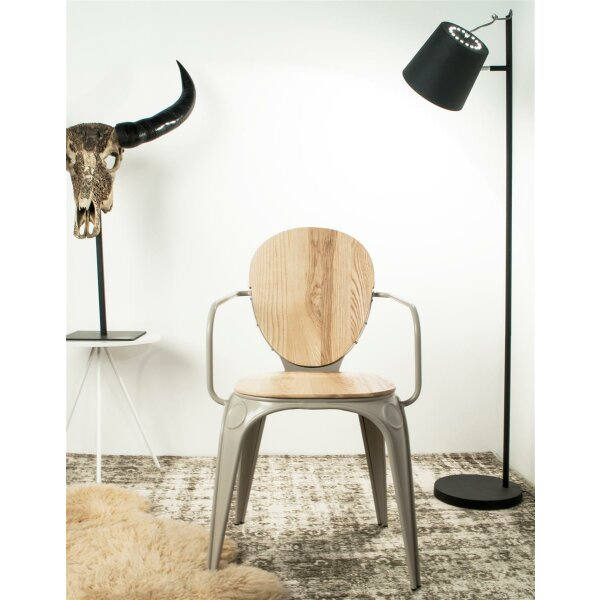 Floor Lamp Buckle Head White