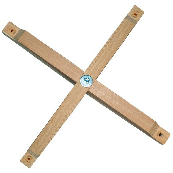 Fixing cross for wooden ceiling